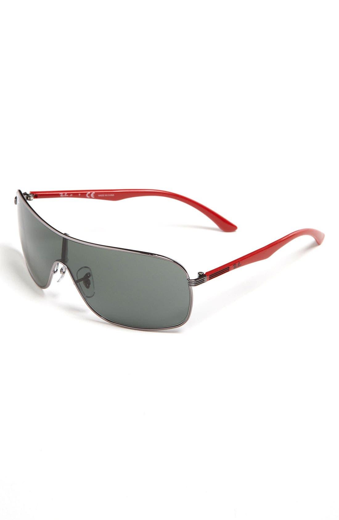 Main Image - Ray-Ban 65mm Shield Sunglasses (Big Boys)