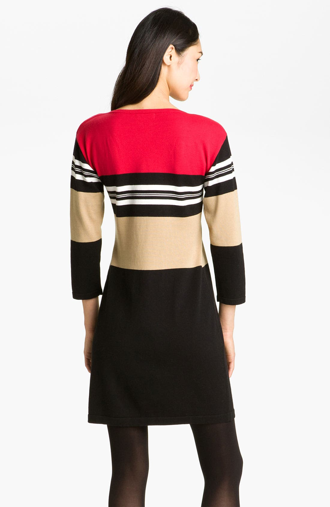 Alternate Image 2  - Calvin Klein Colorblock Knit Sweater Dress