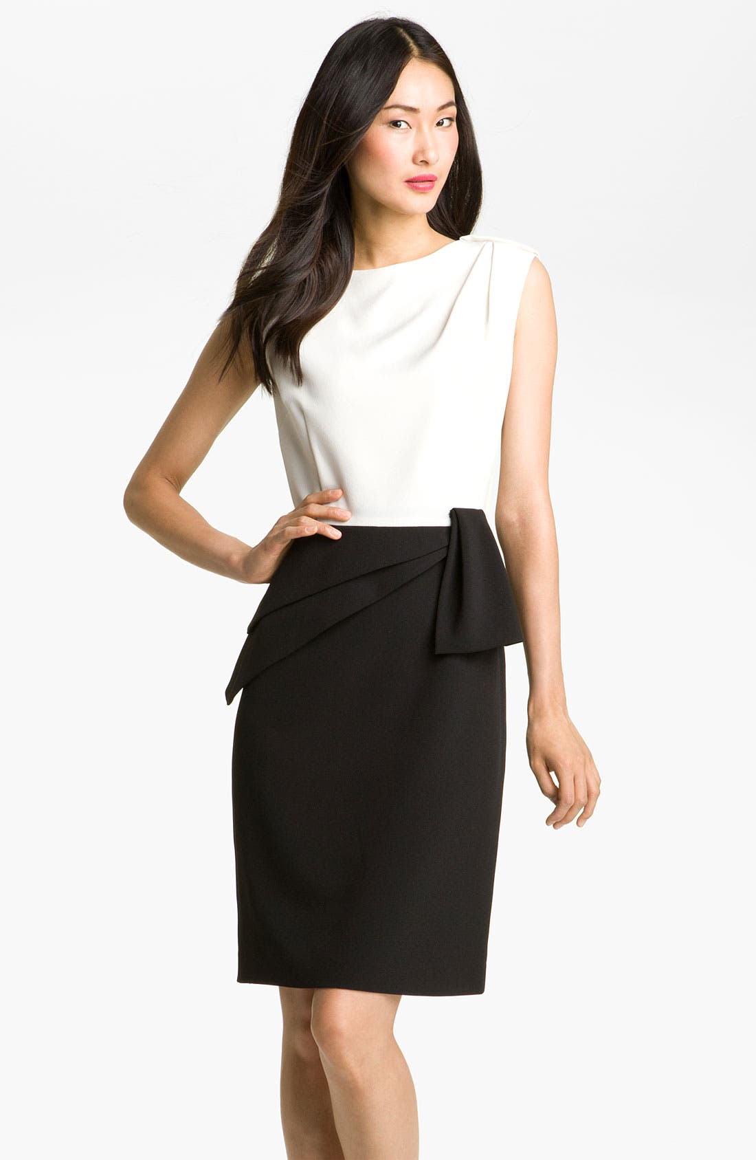 Alternate Image 1 Selected - Adrianna Papell Asymmetrical Peplum Dress