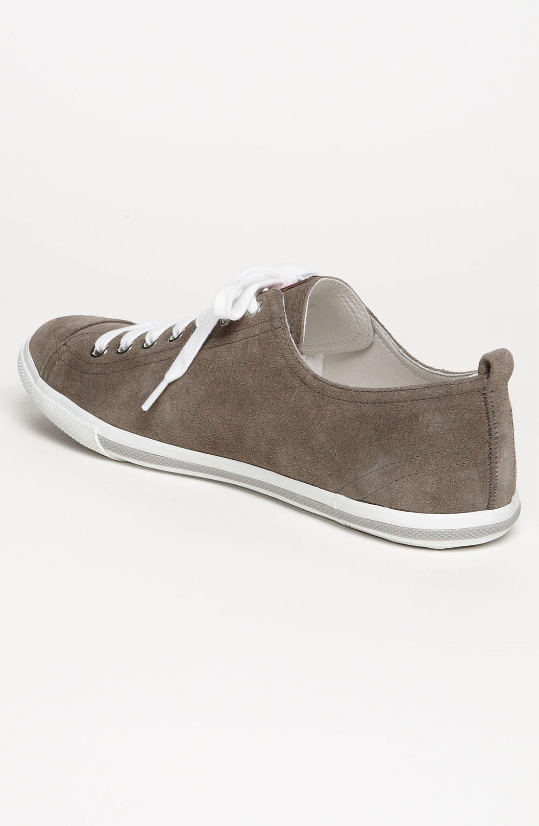 Alternate Image 2  - Prada Low Profile Suede Sneaker
