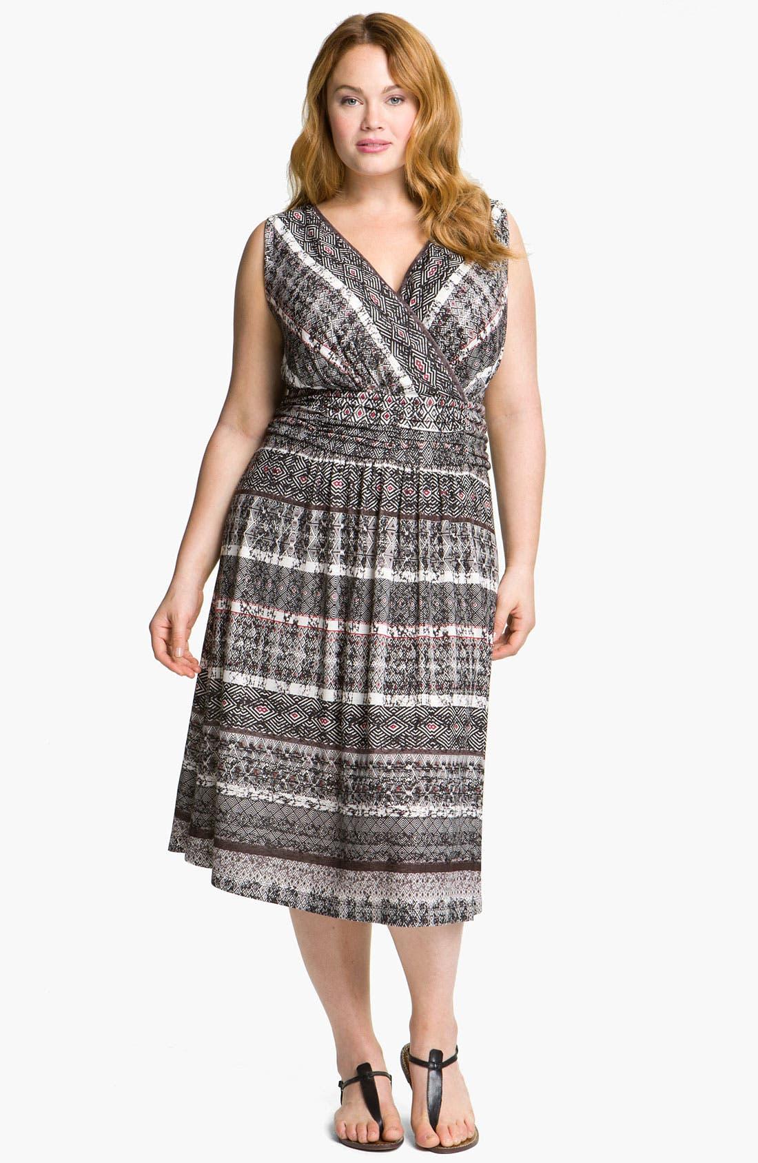 Alternate Image 1 Selected - Nic + Zoe 'Barcelona Block' Dress (Plus)