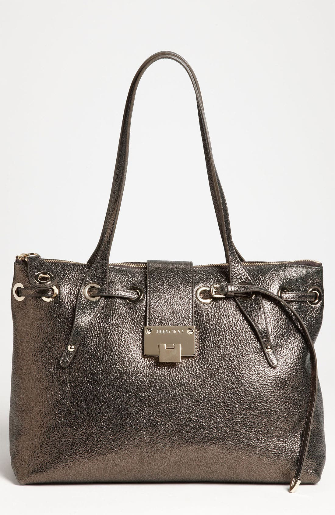 Alternate Image 1 Selected - Jimmy Choo 'Rhea' Glitter Leather Tote