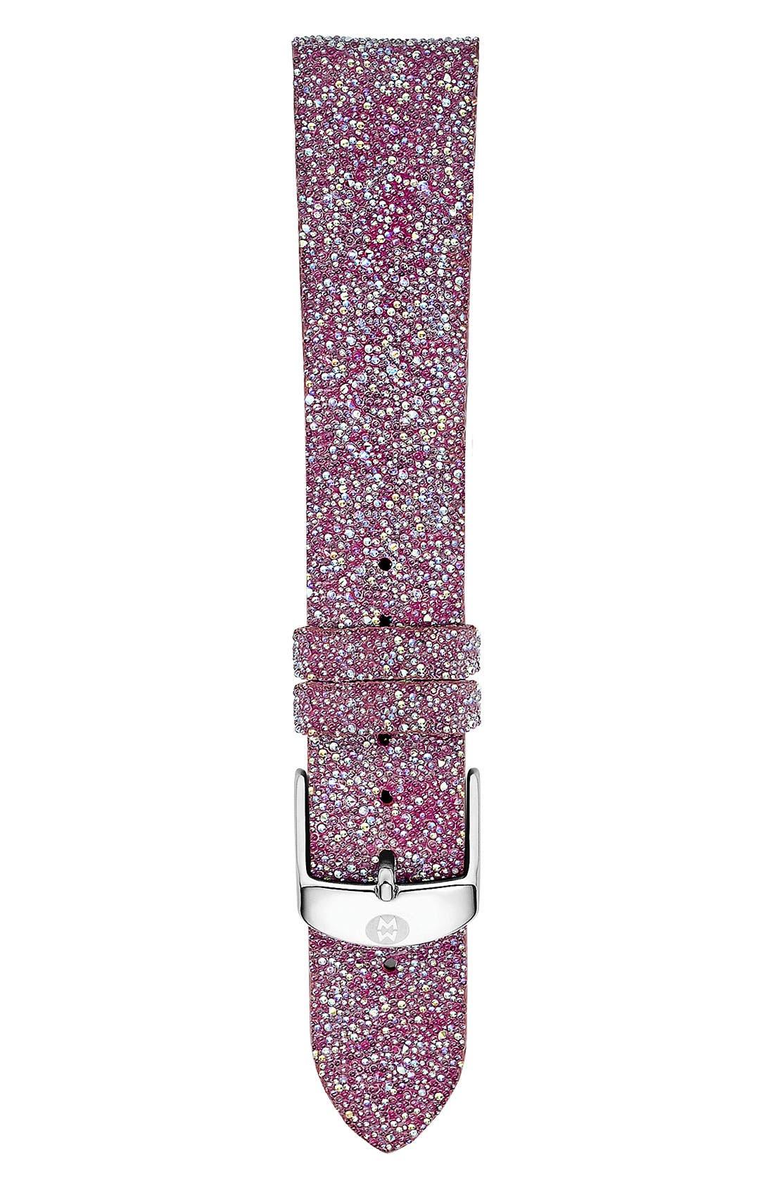 Alternate Image 1 Selected - MICHELE 16mm Glitter Watch Strap