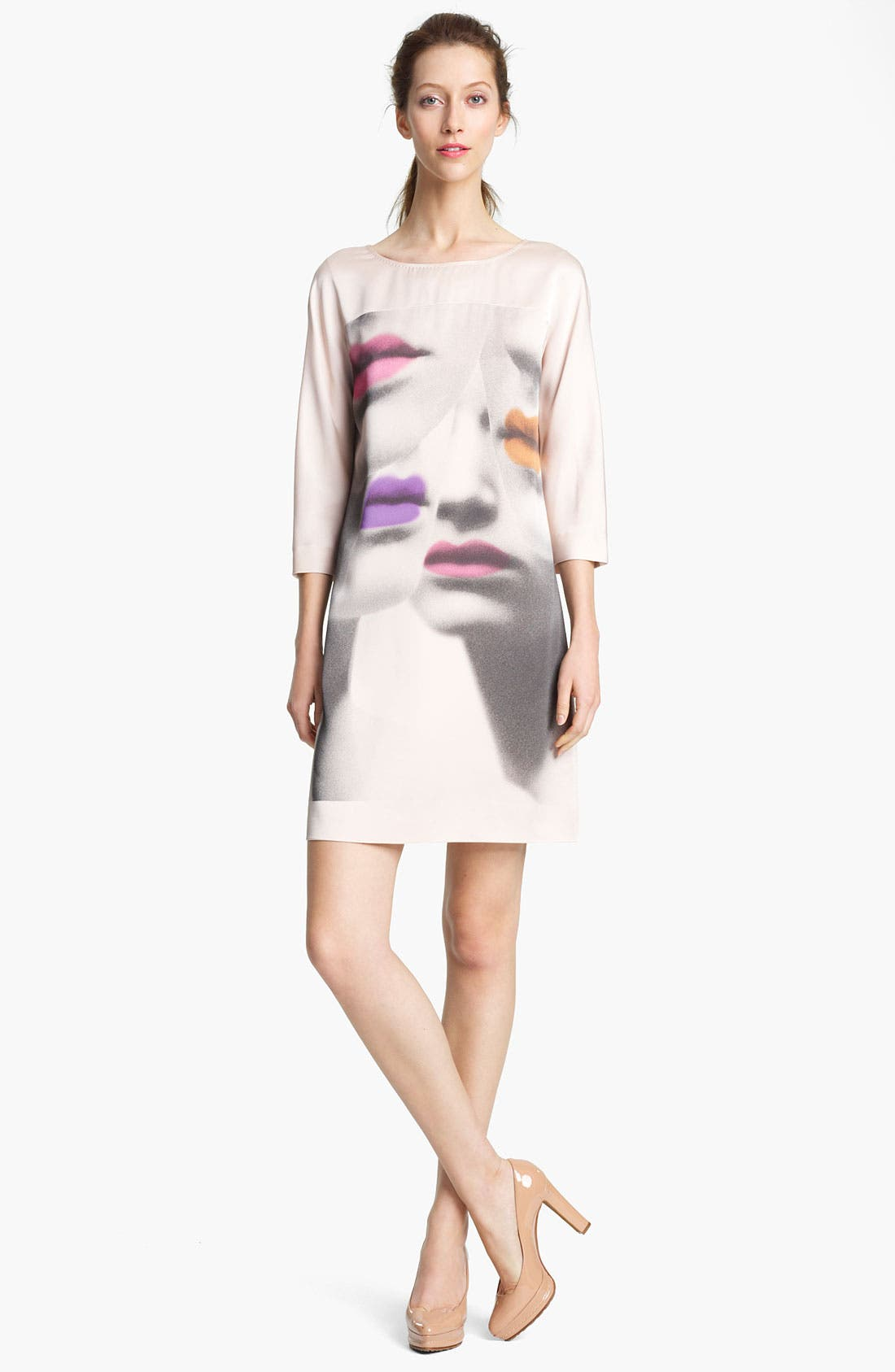 Alternate Image 1 Selected - Moschino Cheap & Chic Print Silk Dress