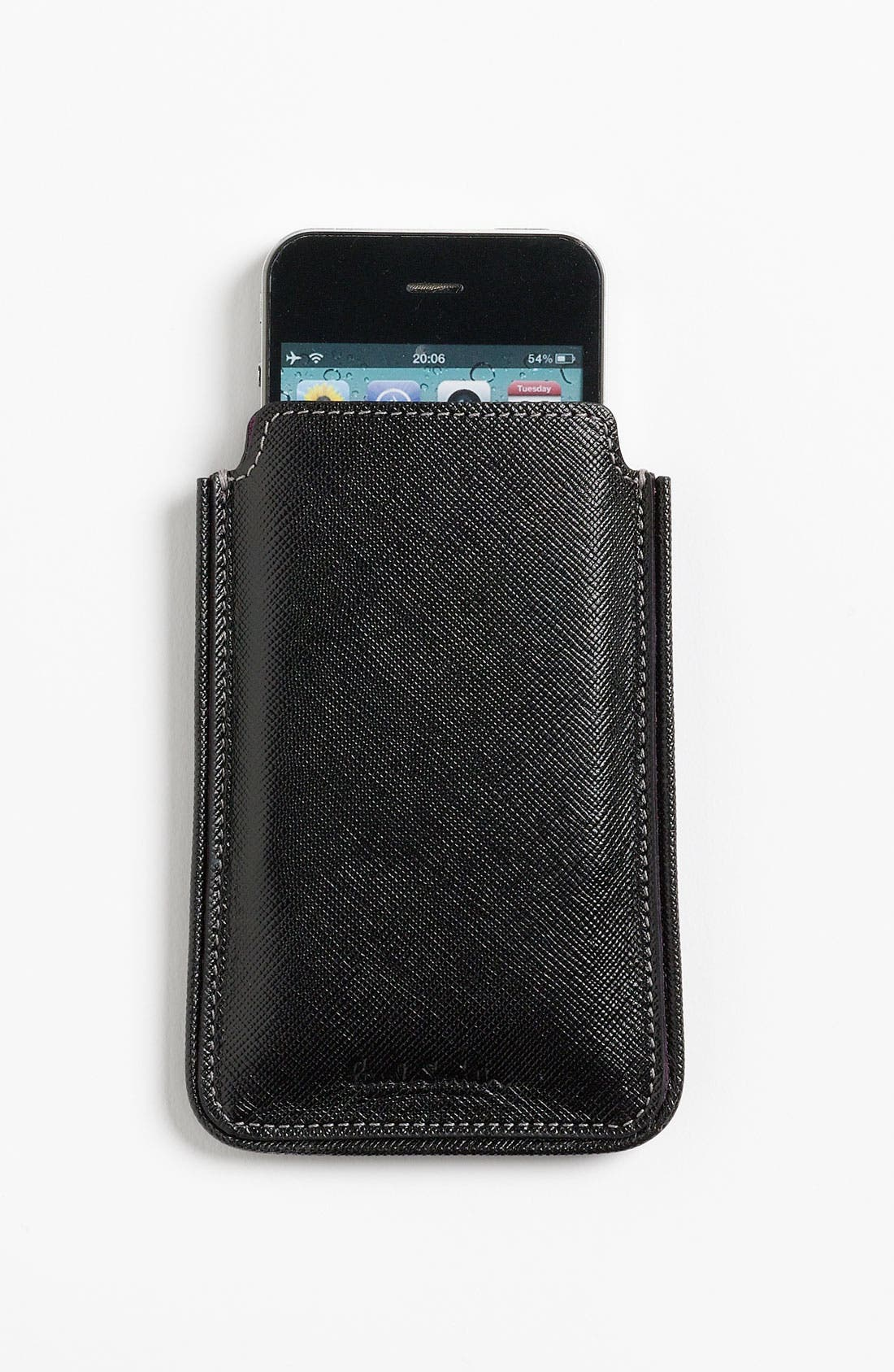 Alternate Image 3  - Paul Smith Accessories Leather iPhone Case