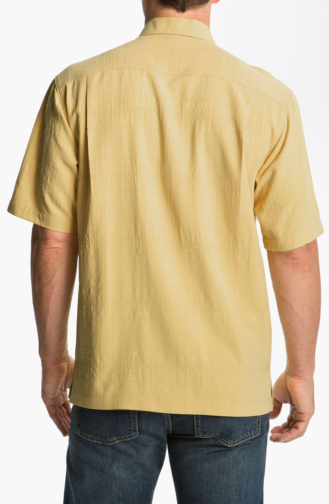 Alternate Image 2  - Tommy Bahama 'Skyscraper' Silk Campshirt