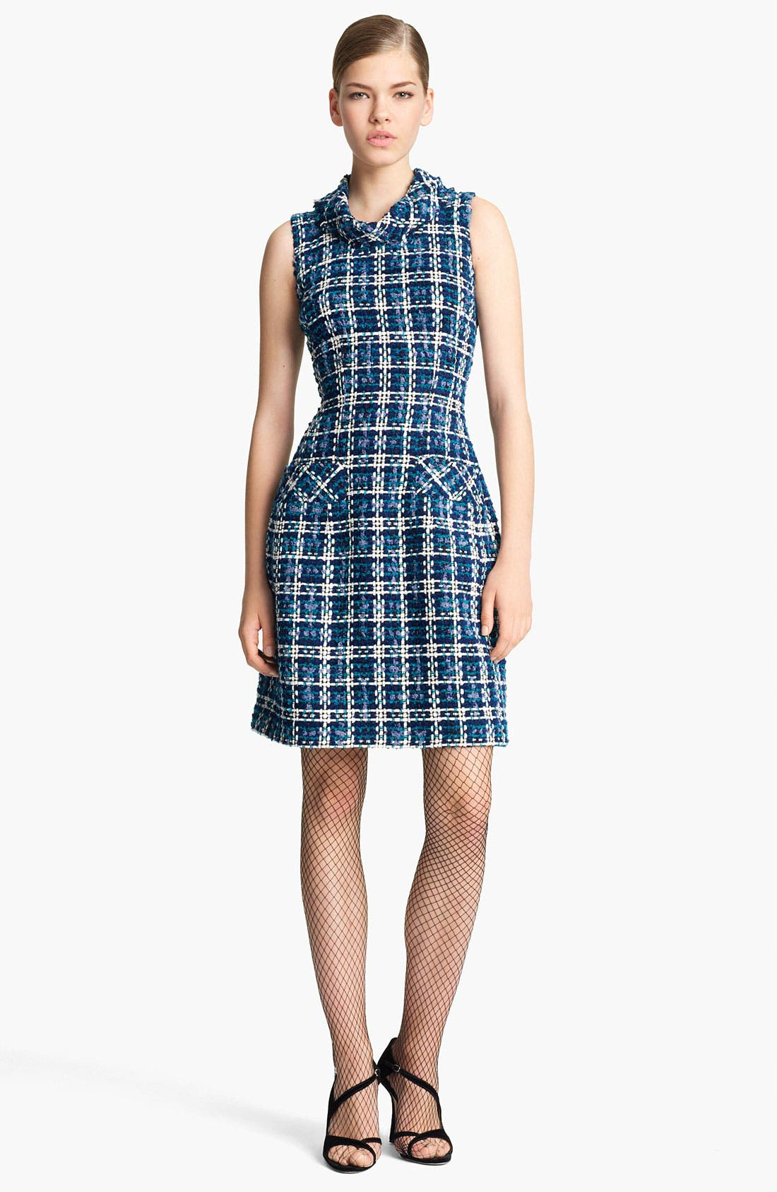 Alternate Image 1 Selected - Oscar de la Renta Tweed Sheath Dress