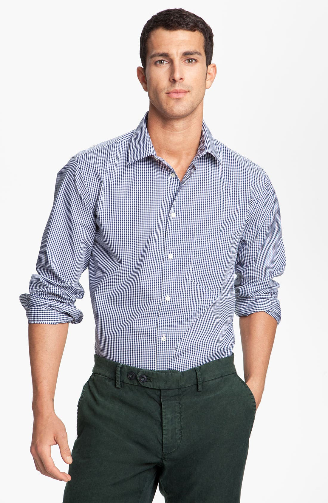 Main Image - Mason's Micro Gingham Cotton Shirt