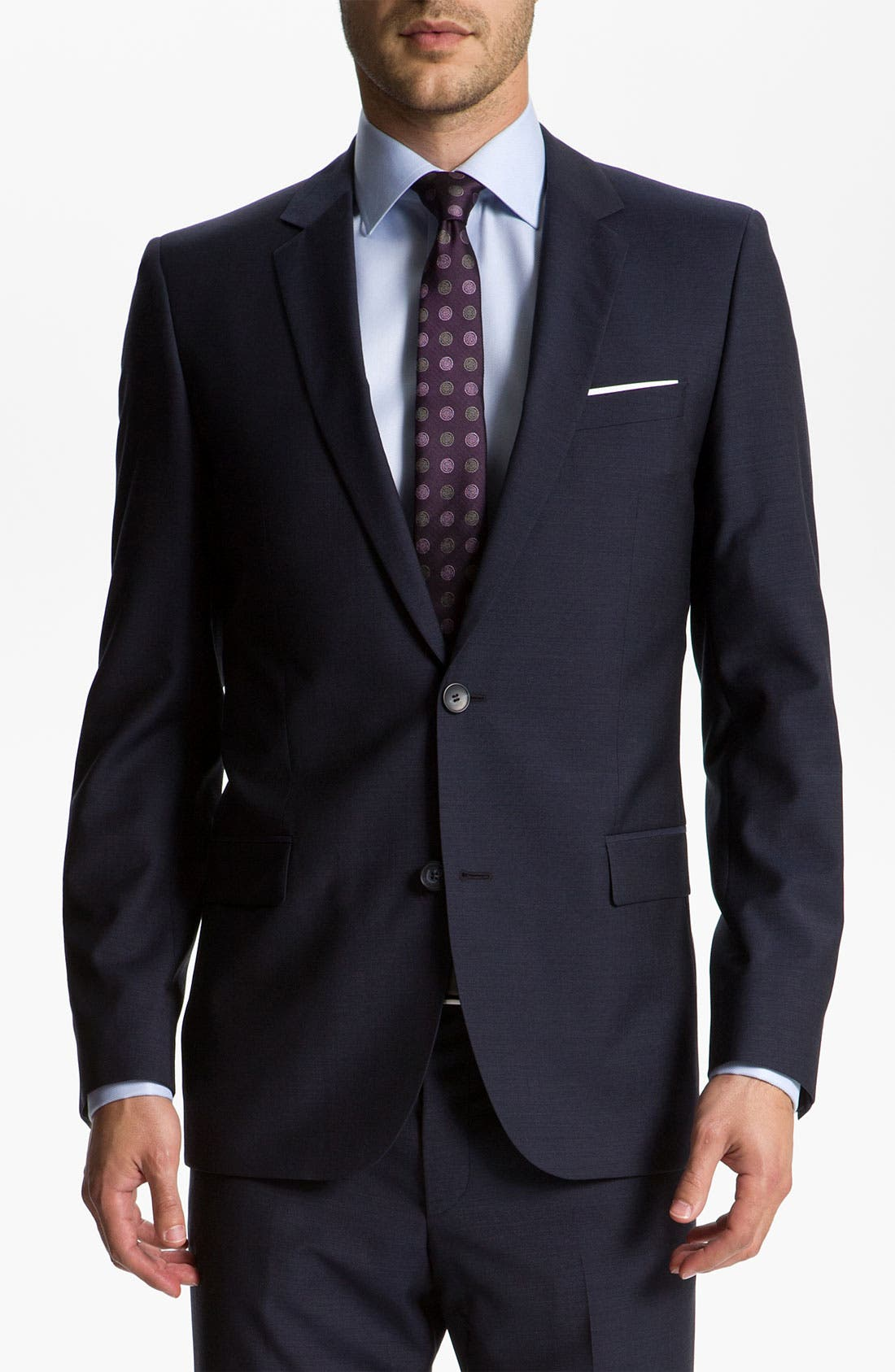 Alternate Image 1 Selected - HUGO 'Astro/Hill' Extra Trim Fit Wool/Mohair Suit