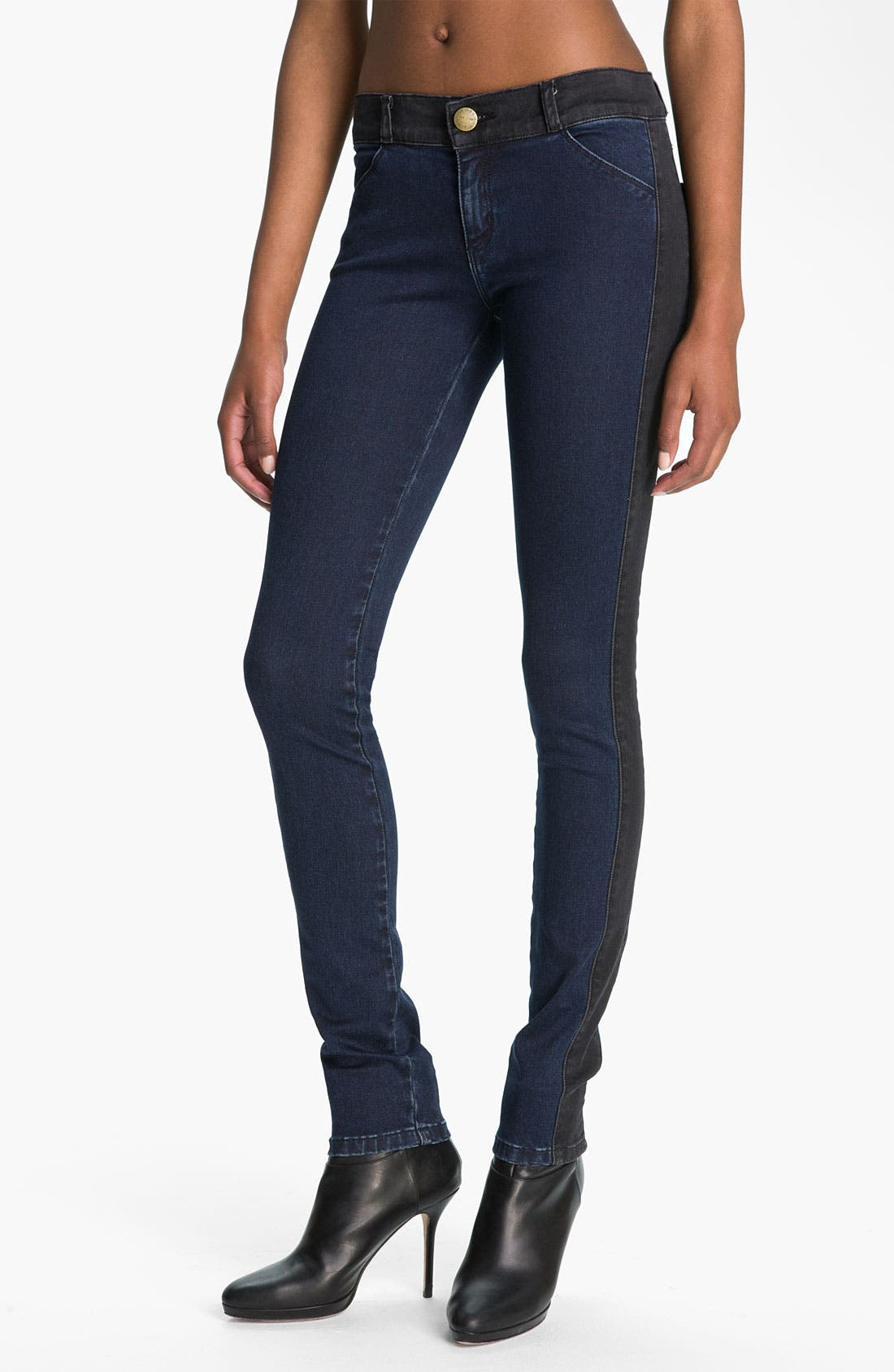 Main Image - Current/Elliott 'The Rider' Panel Denim Leggings (Liberty)