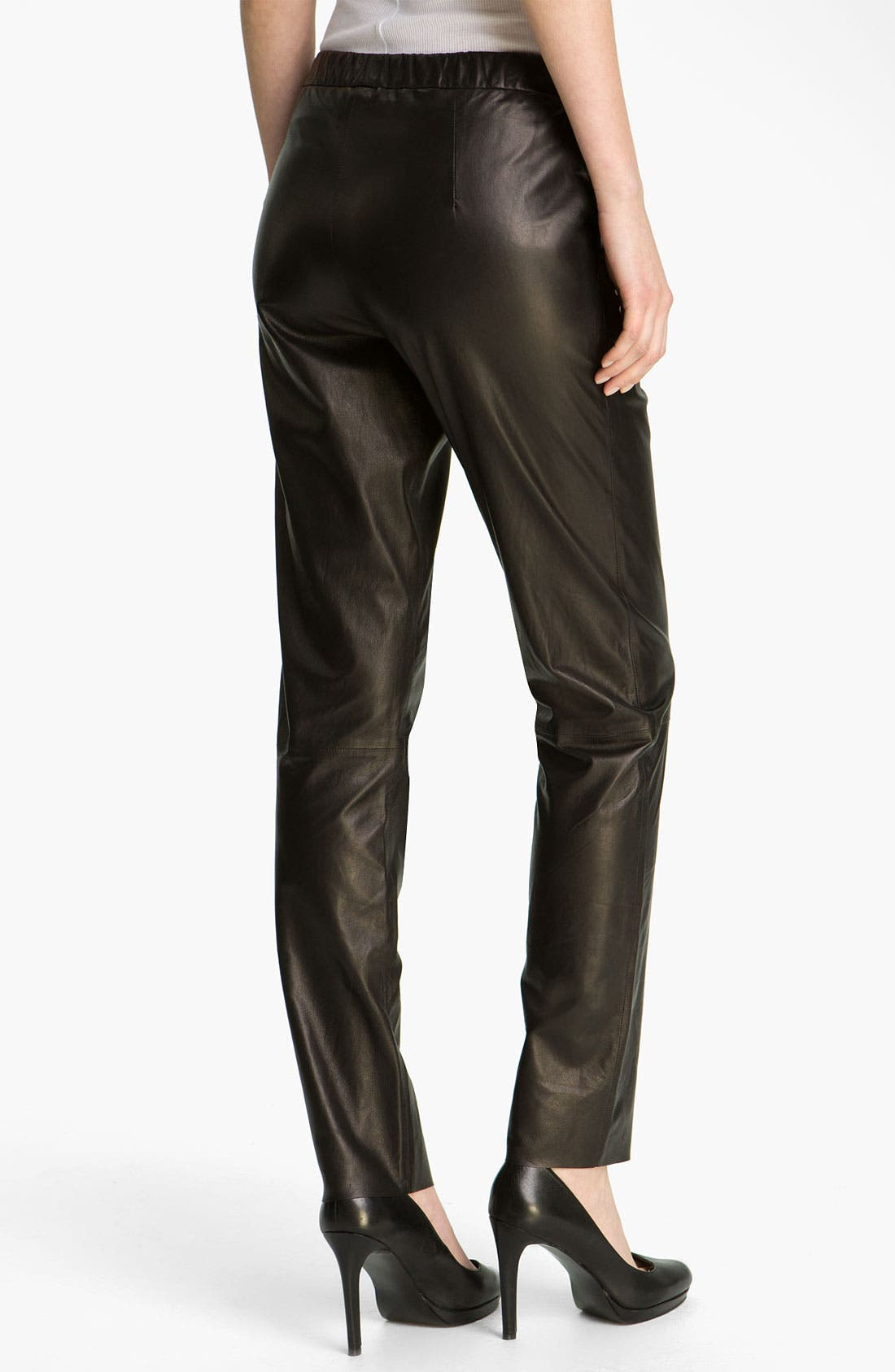Alternate Image 2  - Vince Relaxed Fit Leather Pants