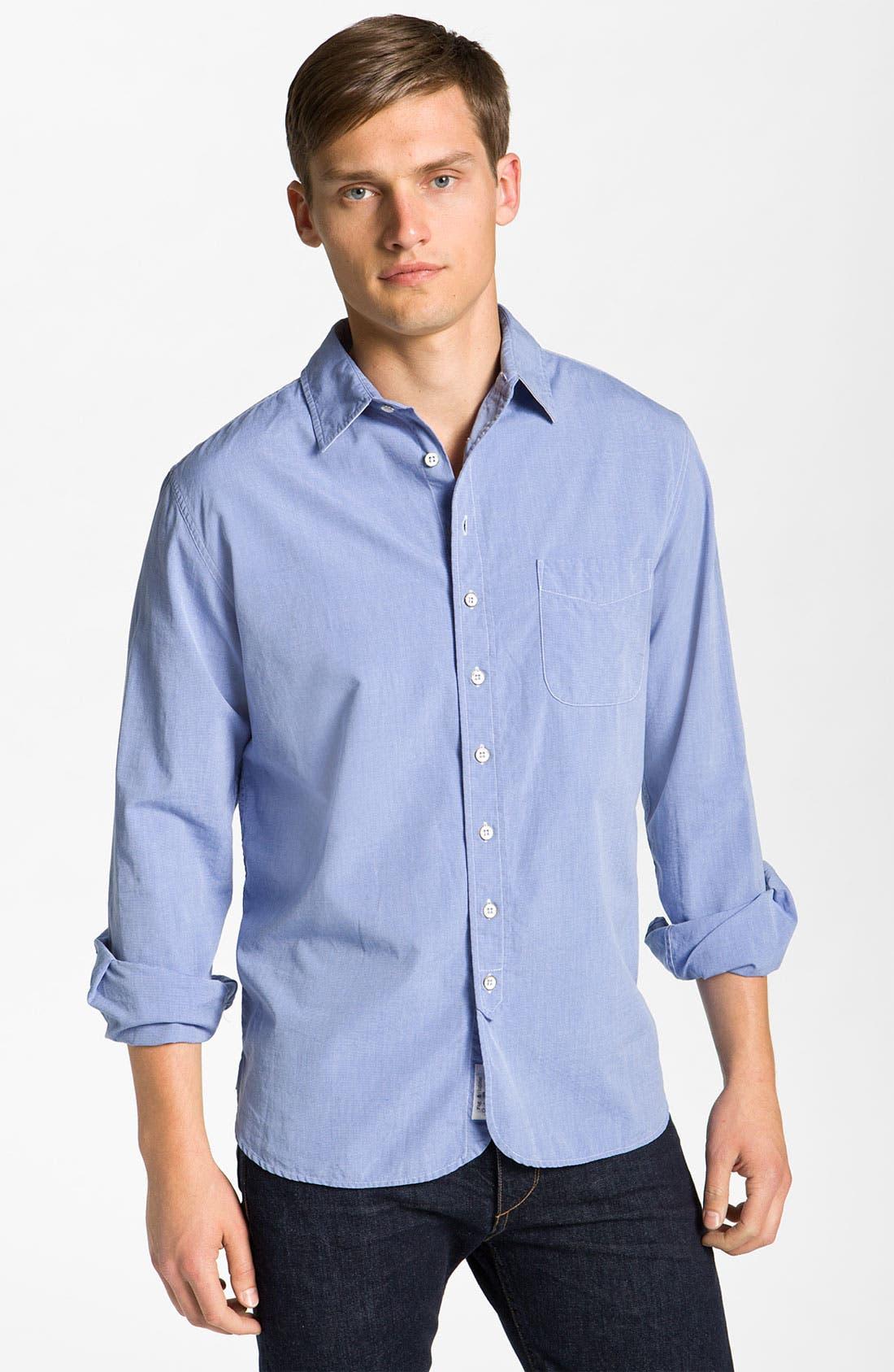 Main Image - rag & bone Washed Cotton Sport Shirt