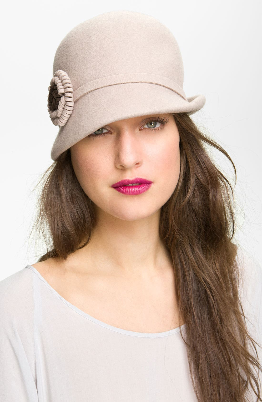 Alternate Image 1 Selected - Nordstrom Felt Flower Cloche