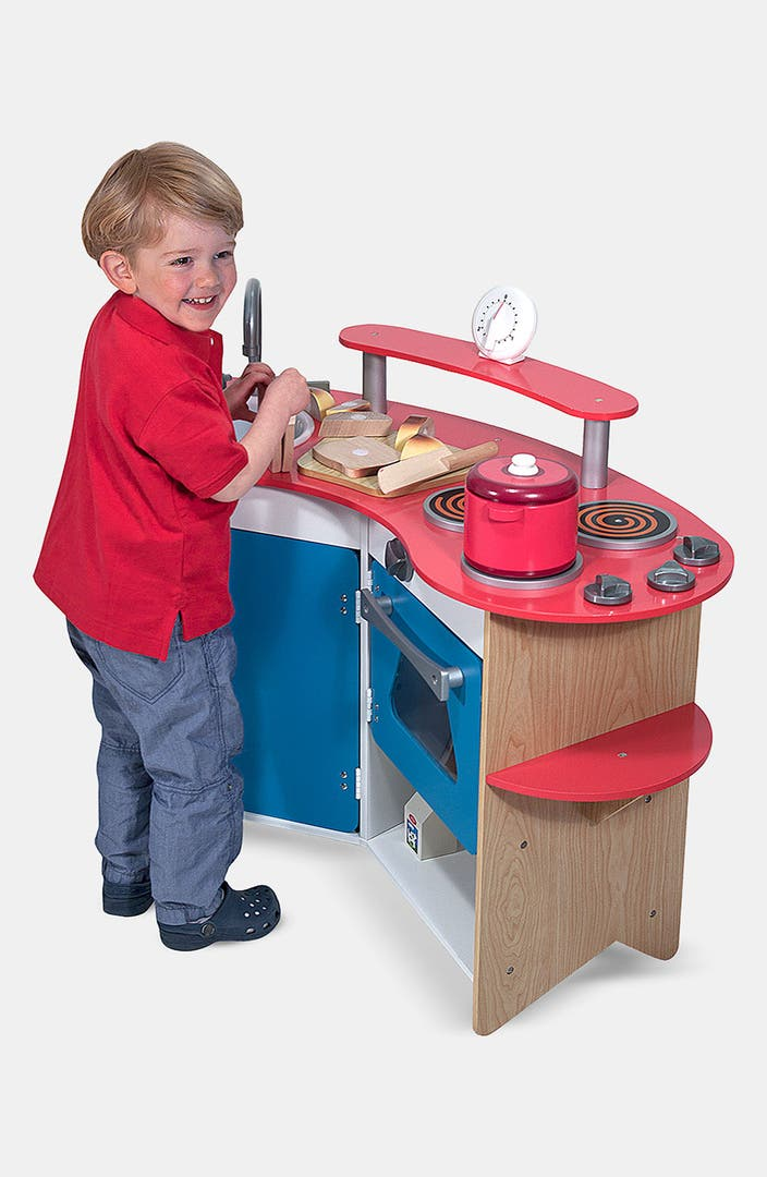 melissa doug 39 cook 39 s corner 39 wooden play kitchen nordstrom. Black Bedroom Furniture Sets. Home Design Ideas
