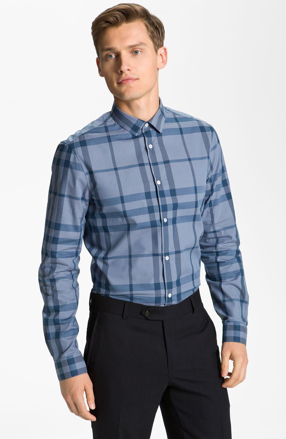 Alternate Image 1 Selected - Burberry London Woven Cotton Shirt