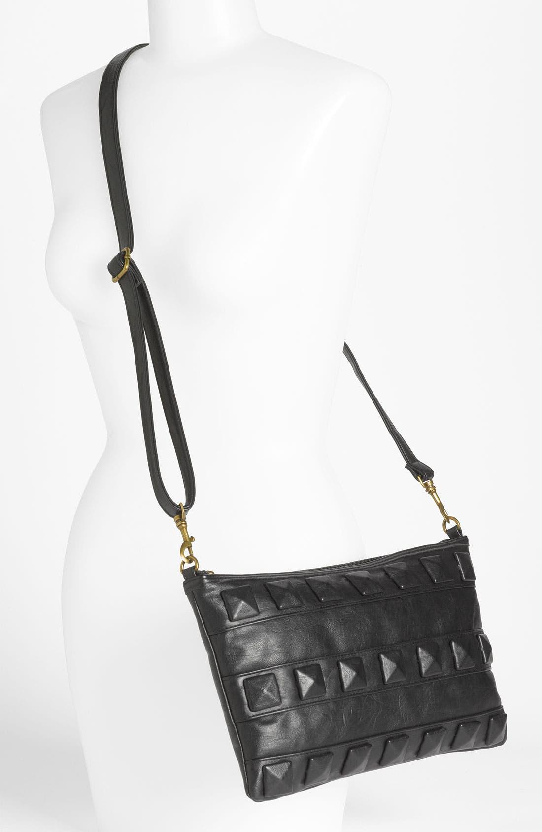 Alternate Image 2  - Lulu Studded Faux Leather Crossbody Bag