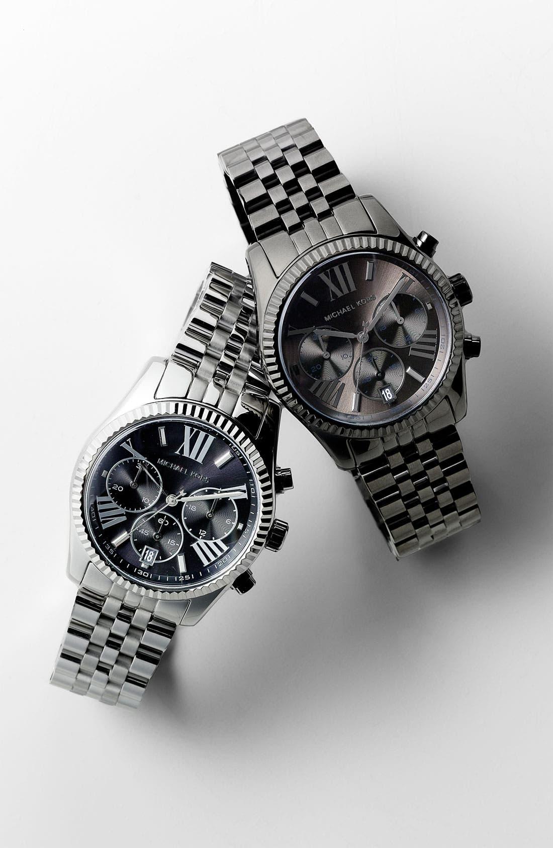 Alternate Image 4  - Michael Kors 'Lexington' Chronograph Bracelet Watch, 38mm (Nordstrom Exclusive)
