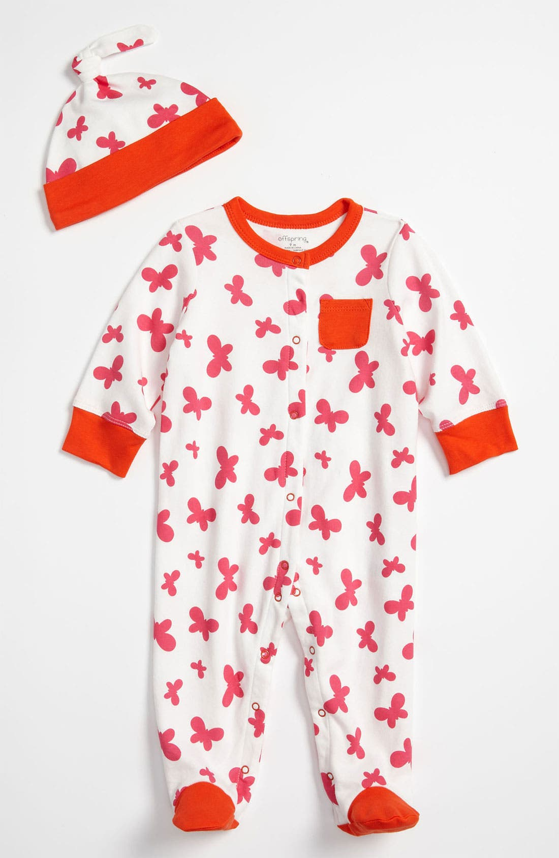 Main Image - Offspring Footie & Hat Set (Infant)