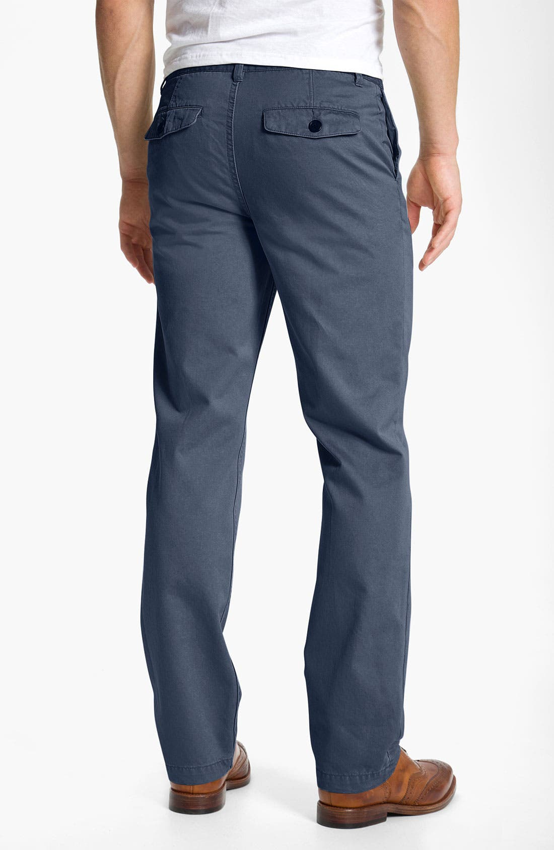 Alternate Image 2  - 1901 Cotton Twill Straight Leg Chinos