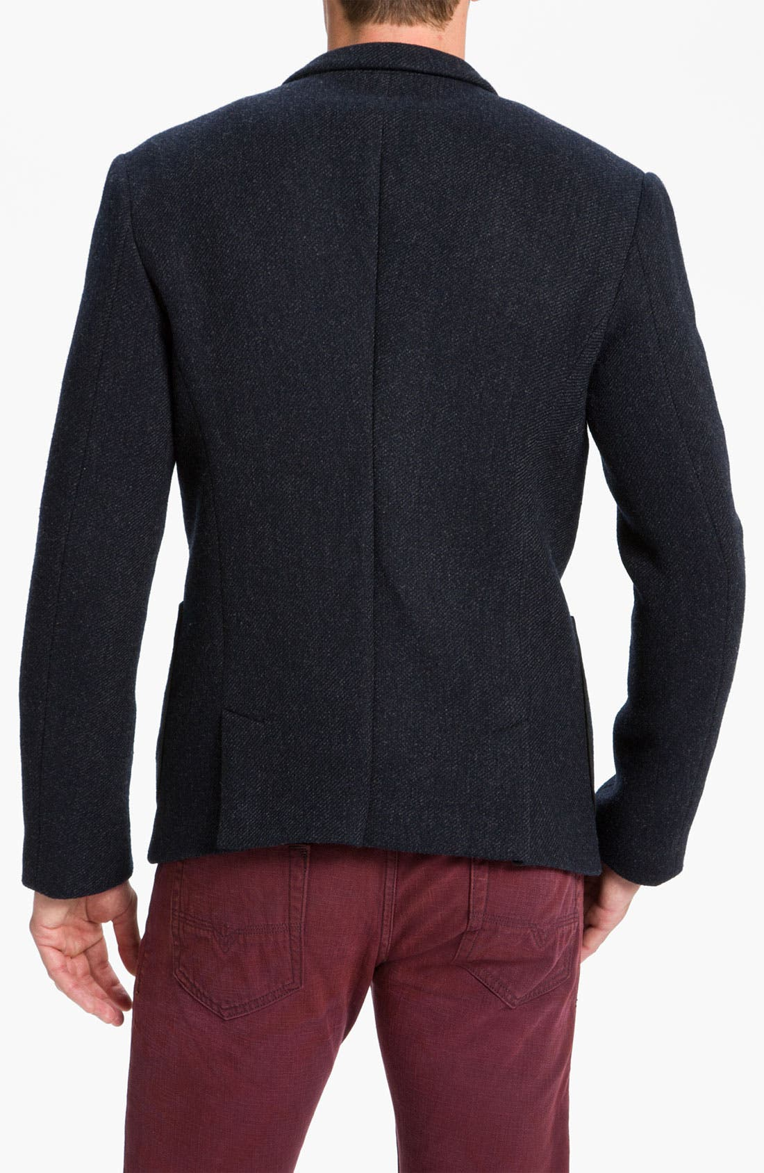 Alternate Image 2  - Edun One Button Twill Woven Blazer