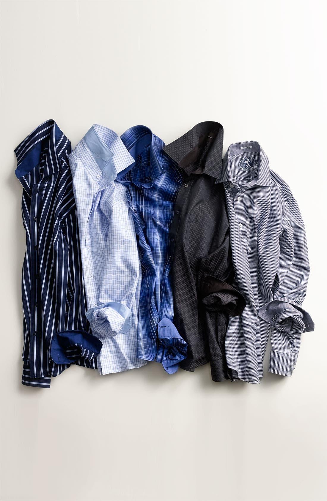 Alternate Image 5  - Bugatchi Uomo Classic Fit Sport Shirt