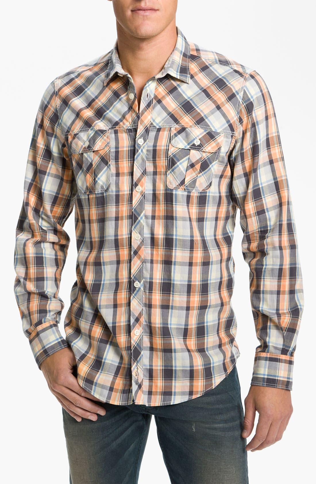 Alternate Image 1 Selected - Ben Sherman Plaid Woven Shirt