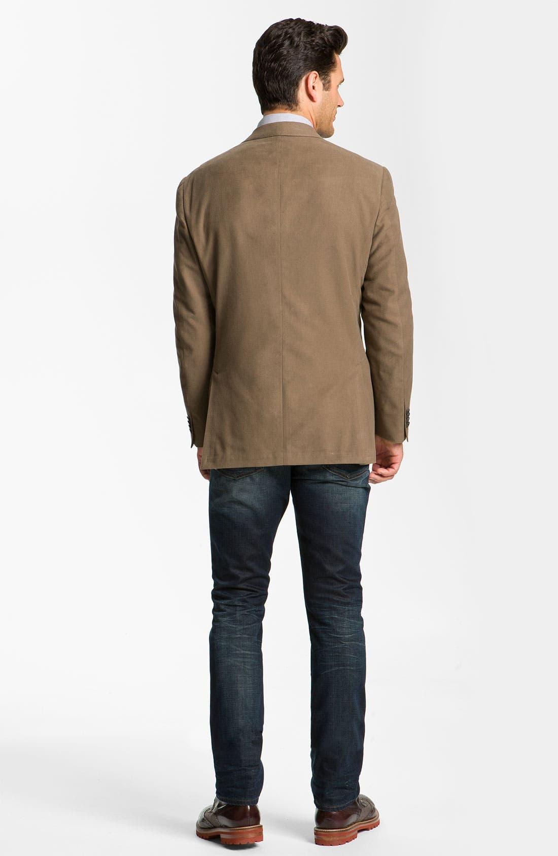 Alternate Image 9  - John Varvatos 'Bowery' Slim Straight Leg Jeans (Dark Indigo)