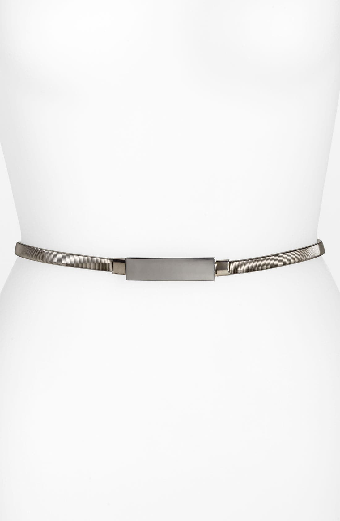 Alternate Image 1 Selected - Lulu Metal Stretch Skinny Belt