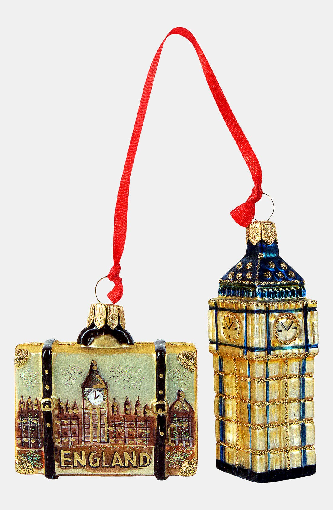 Alternate Image 1 Selected - Nordstrom at Home 'England Mini Set' Glass Ornament