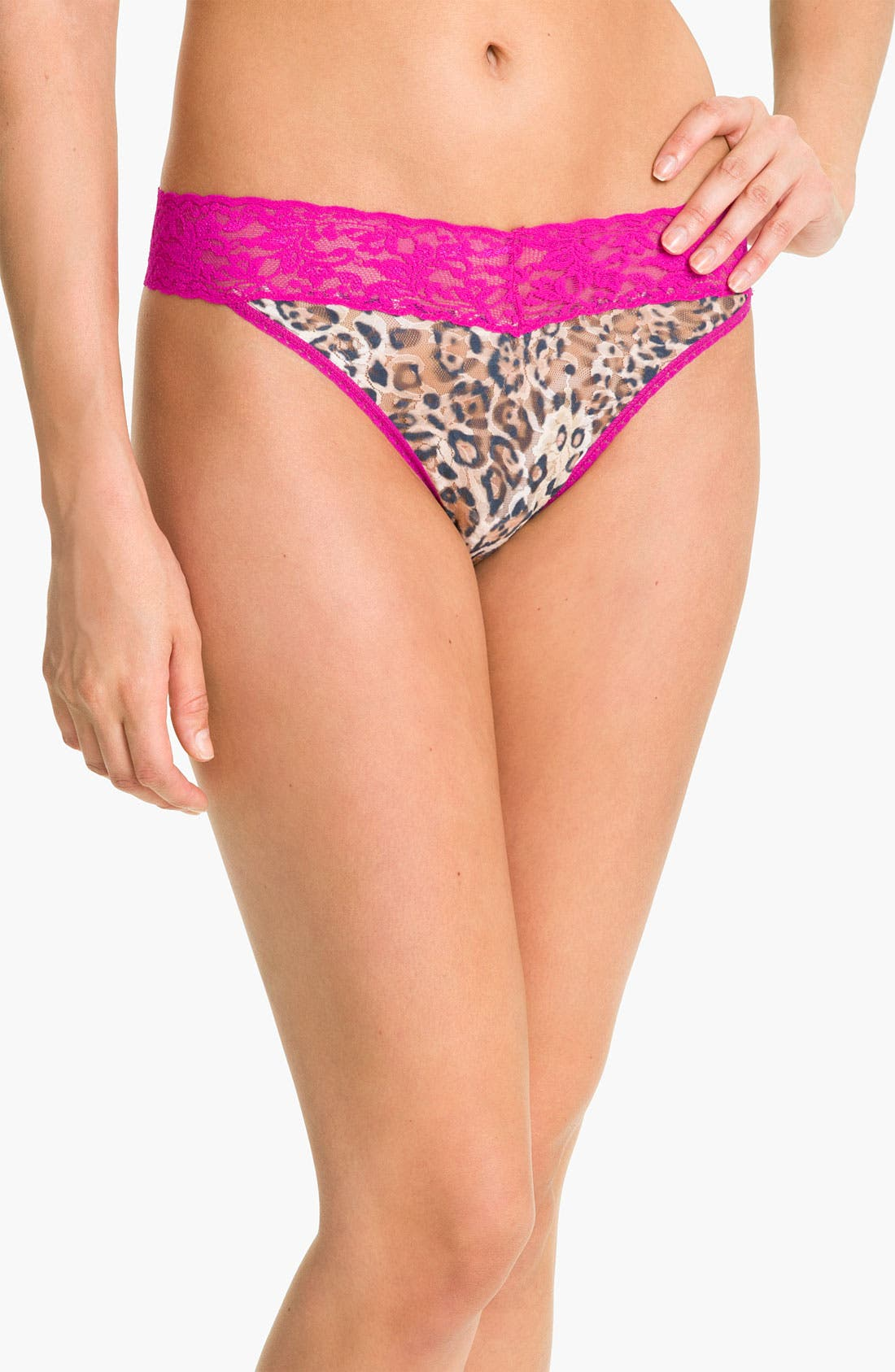 Alternate Image 1 Selected - Hanky Panky 'Leopard Nouveau' Regular Rise Thong