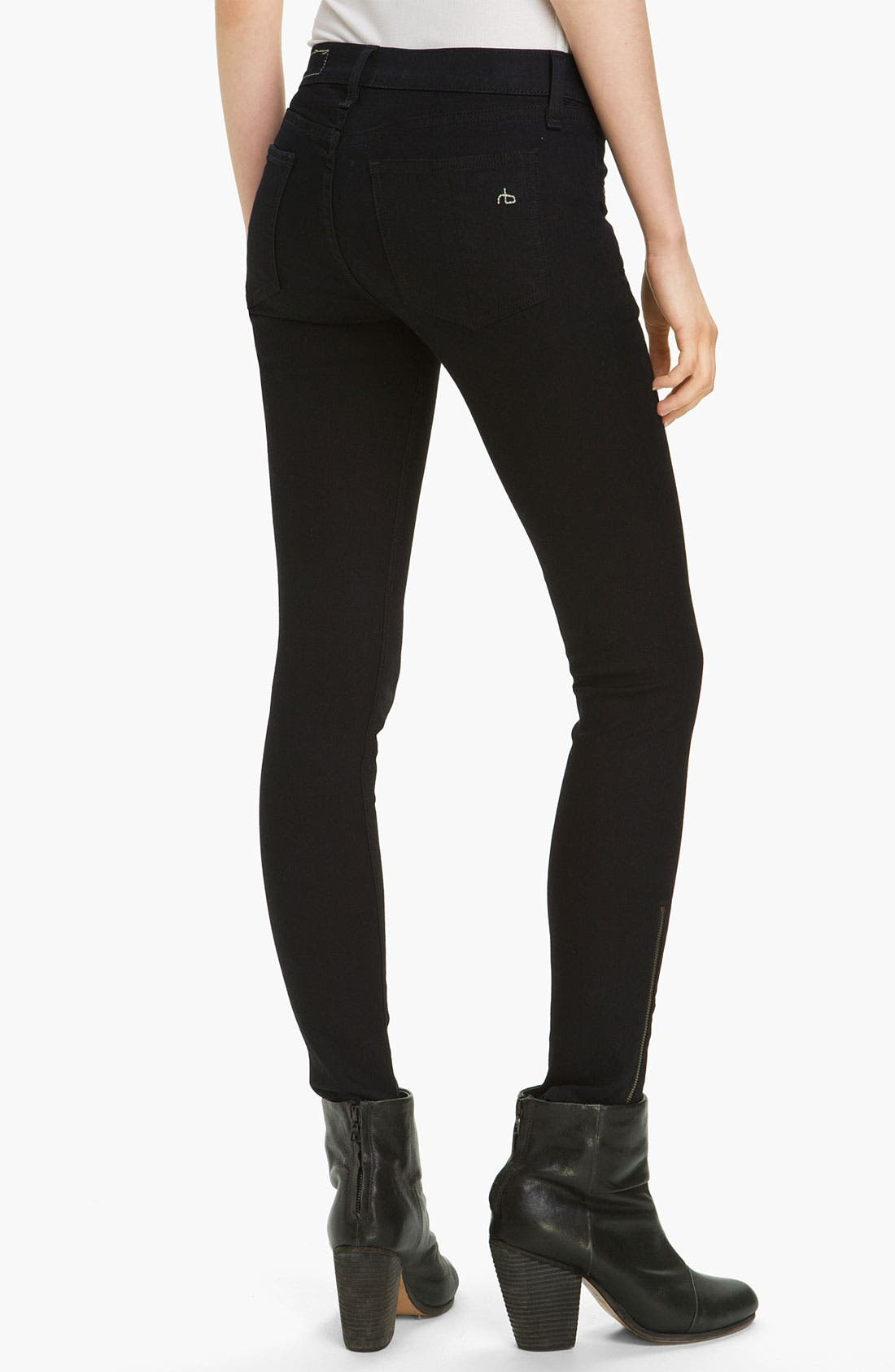 Alternate Image 2  - rag & bone/JEAN Zip Pocket Skinny Stretch Jeans