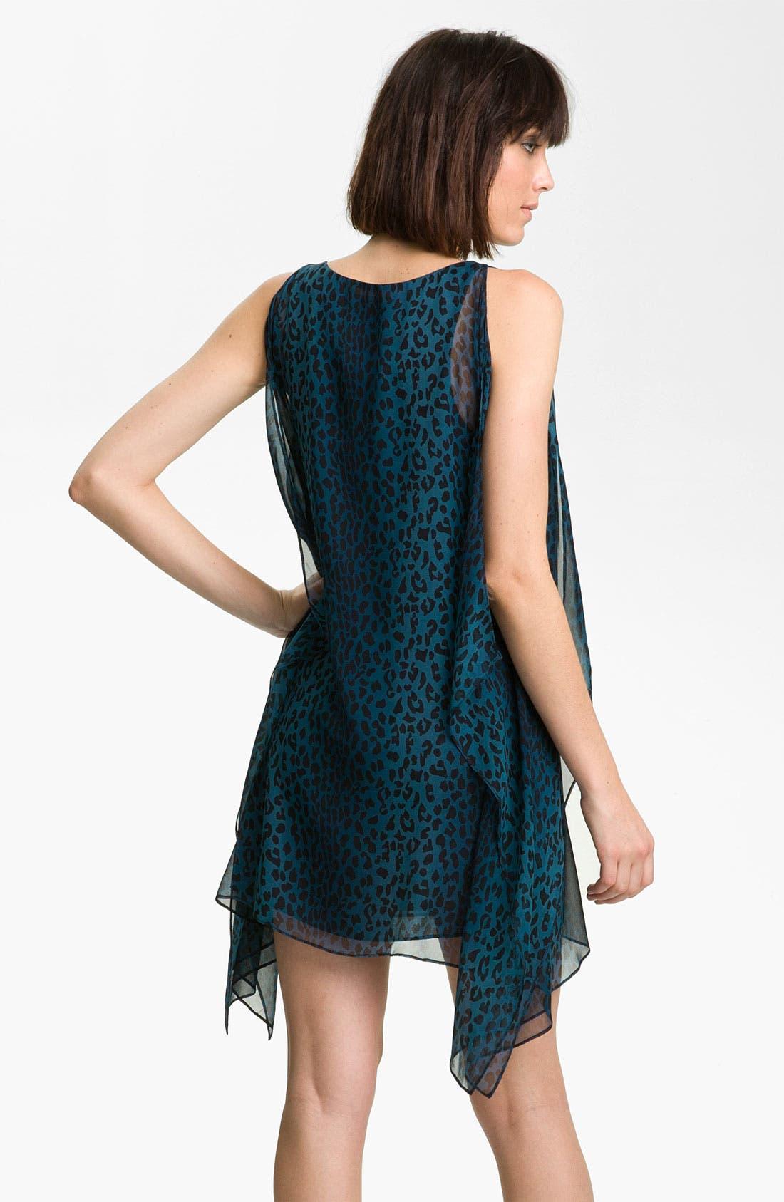 Alternate Image 2  - Jay Godfrey 'Stastny' Leopard Print Chiffon Kimono Dress