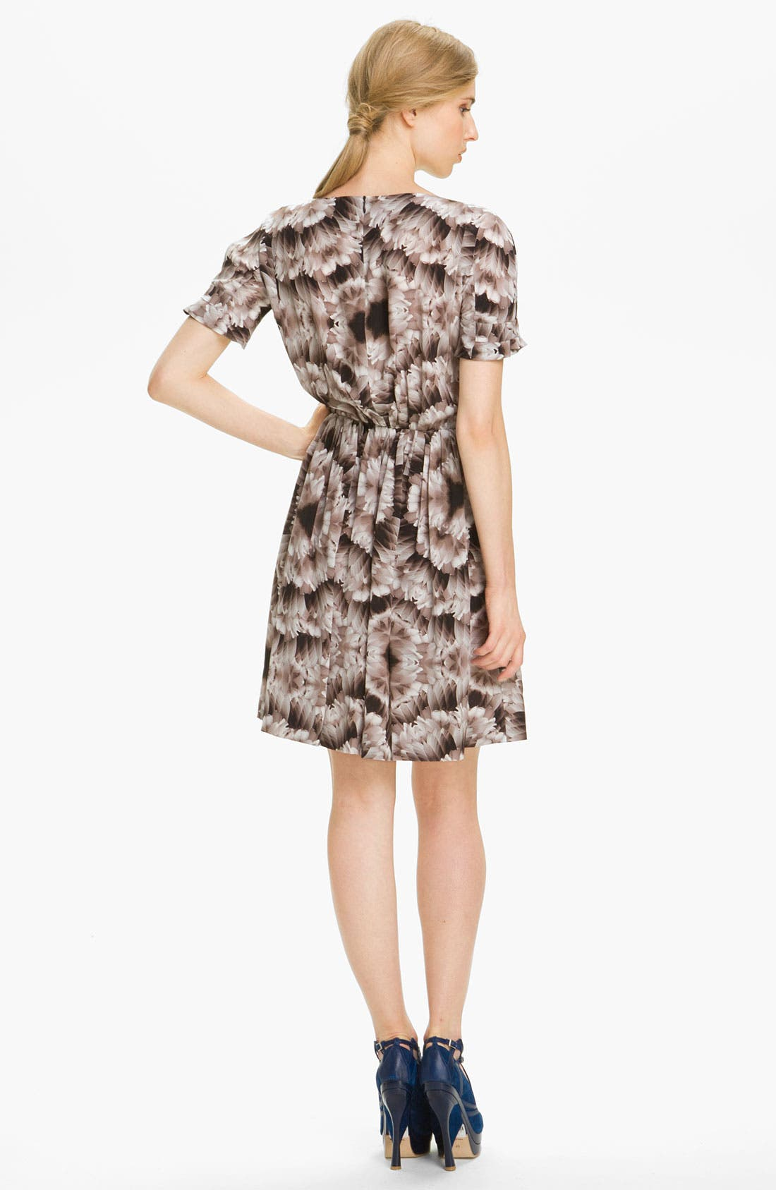 Alternate Image 2  - Cacharel Feather Print Silk Dress