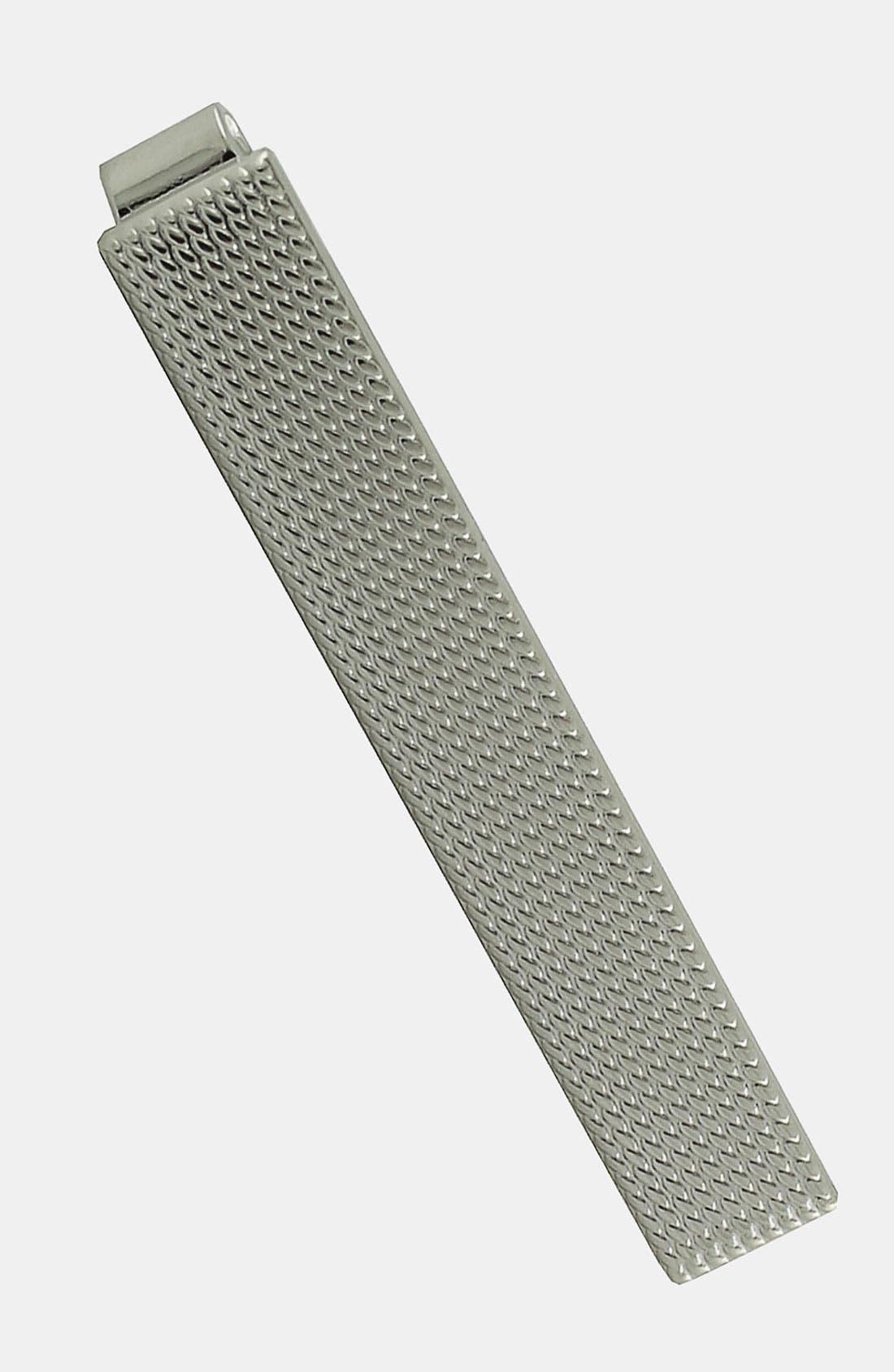 Sterling Silver Tie Clip,                         Main,                         color, Silver Grid