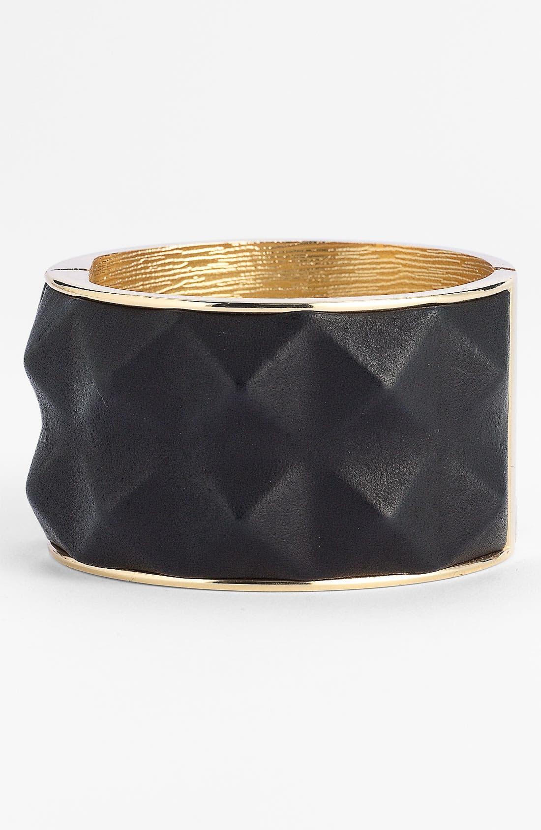 Main Image - Vince Camuto Studded Leather Bangle