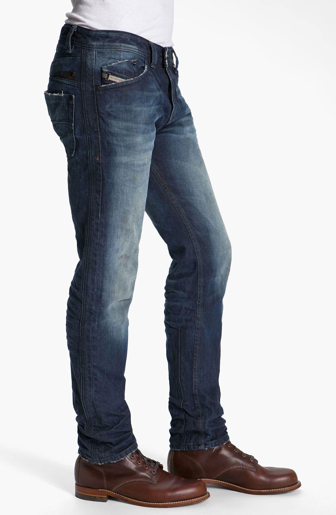 Alternate Image 3  - DIESEL® 'Darron' Slim Tapered Leg Jeans (0803W)