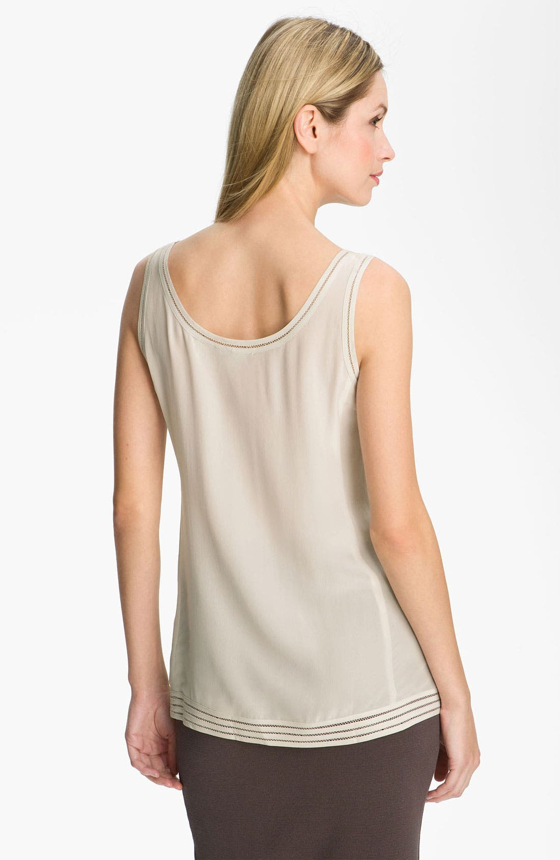 Alternate Image 2  - Eileen Fisher Long Silk Crêpe de Chine Tank