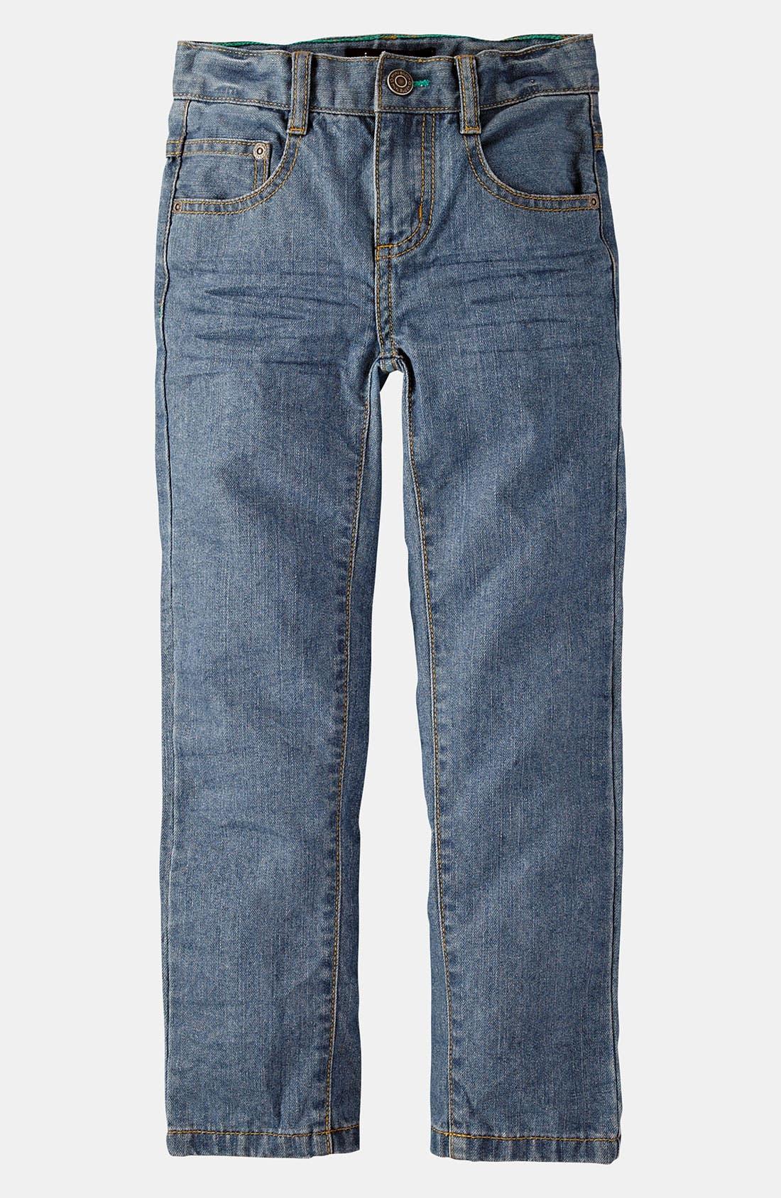 Alternate Image 1 Selected - Mini Boden Slim Fit Jeans (Little Boys & Big Boys)