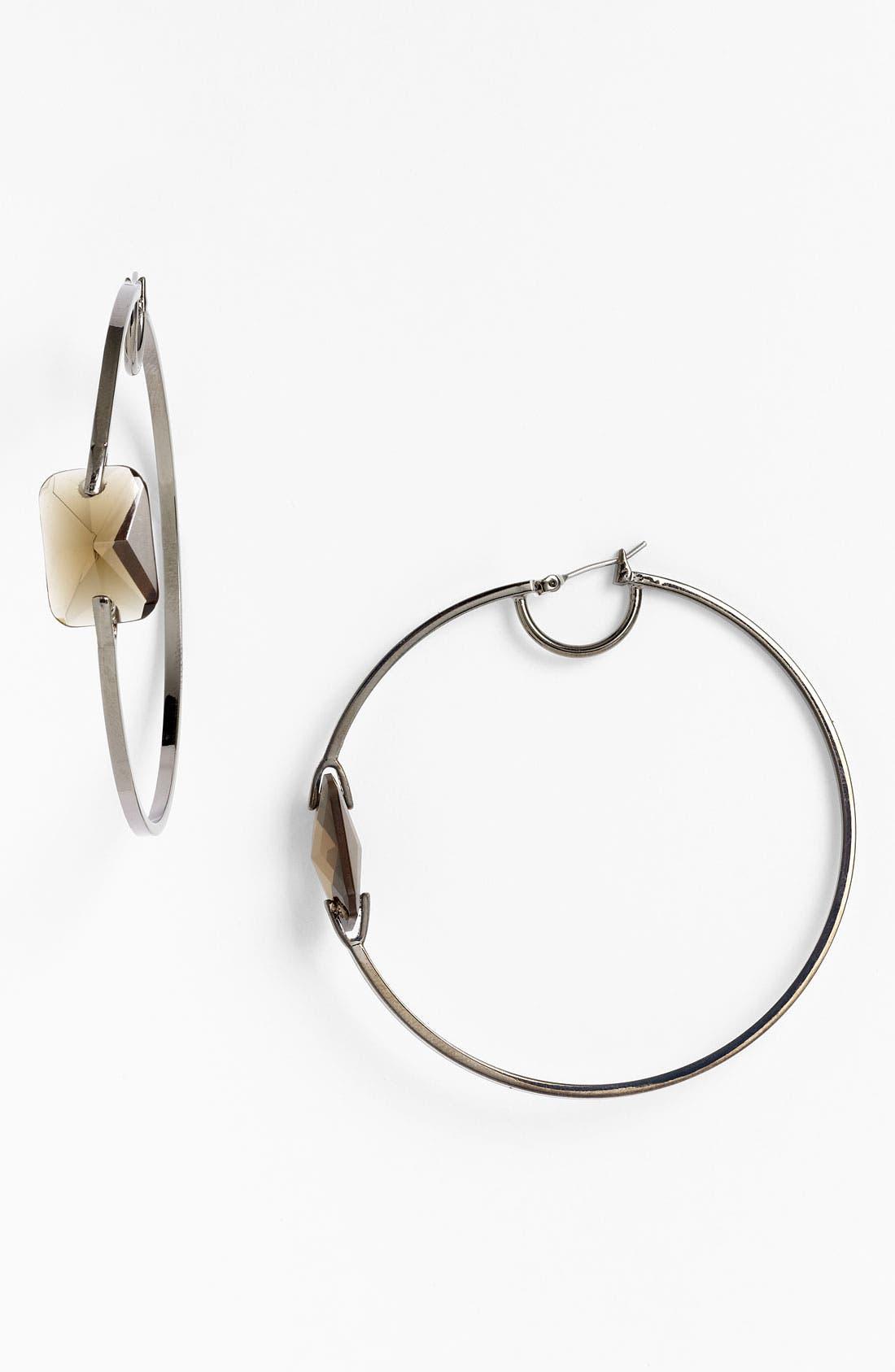 Alternate Image 1 Selected - Vince Camuto 'Basics' Stone Hoop Earrings