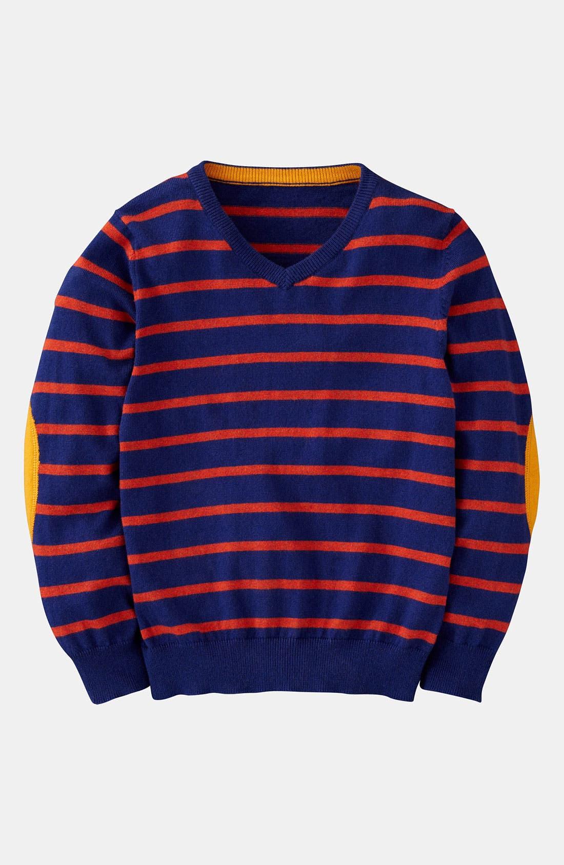 Main Image - Mini Boden V-Neck Sweater (Little Boys & Big Boys)