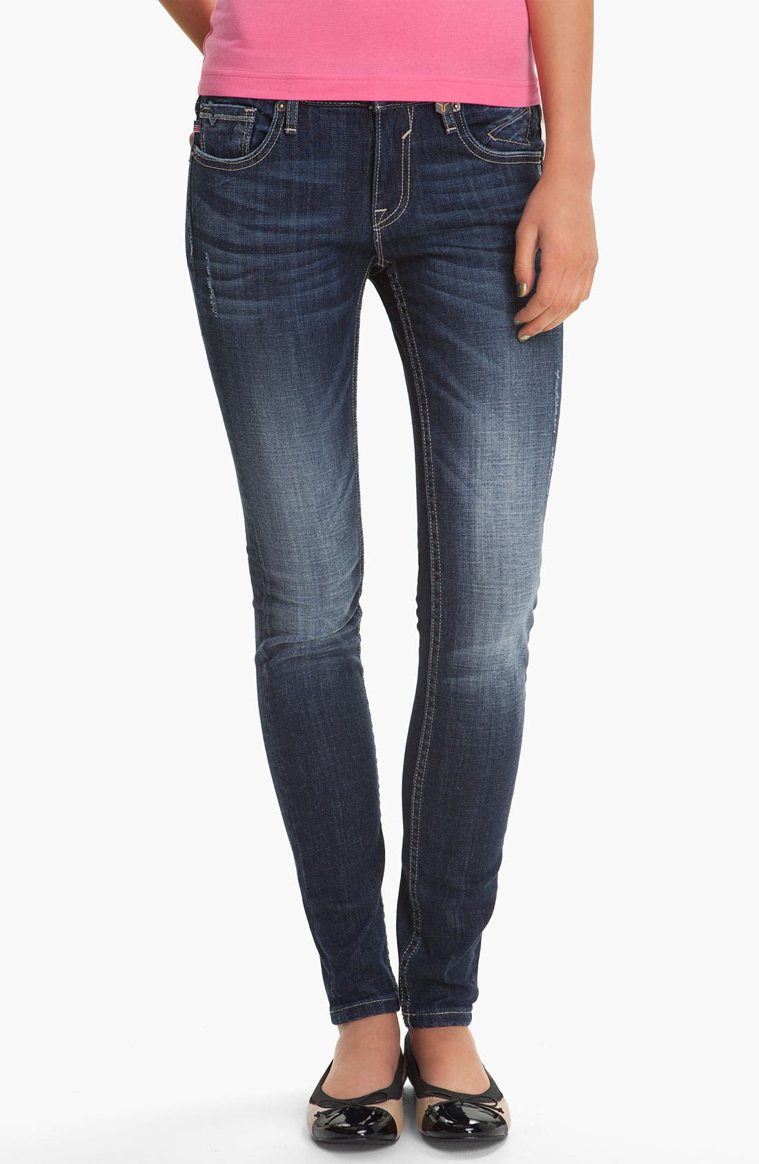 Alternate Image 1 Selected - Vigoss 'Brooklyn' Skinny Stretch Jeans (Juniors)