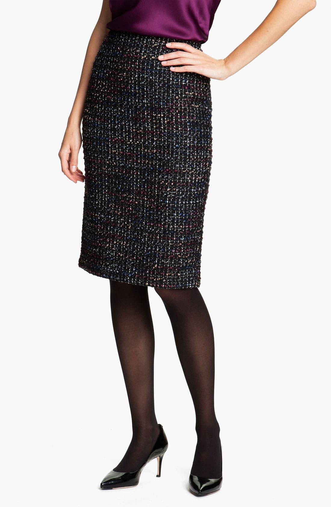 Alternate Image 1 Selected - Lafayette 148 New York 'Cambria Tweed' Slim Skirt