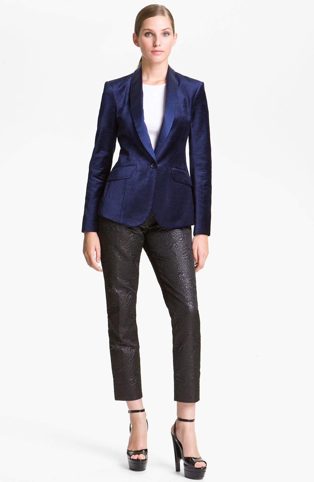 Main Image - Elizabeth and James 'Rex' Velvet Tuxedo Blazer