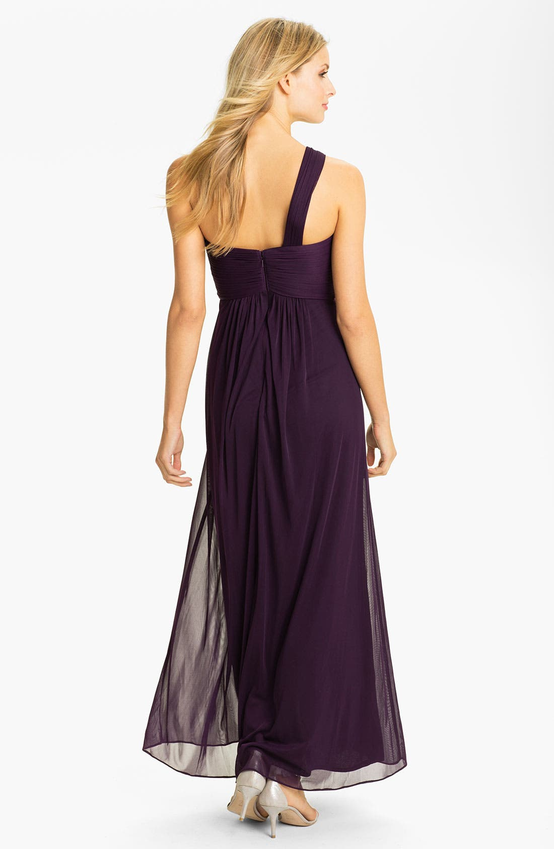 Alternate Image 2  - Xscape One Shoulder Embellished Mesh Gown