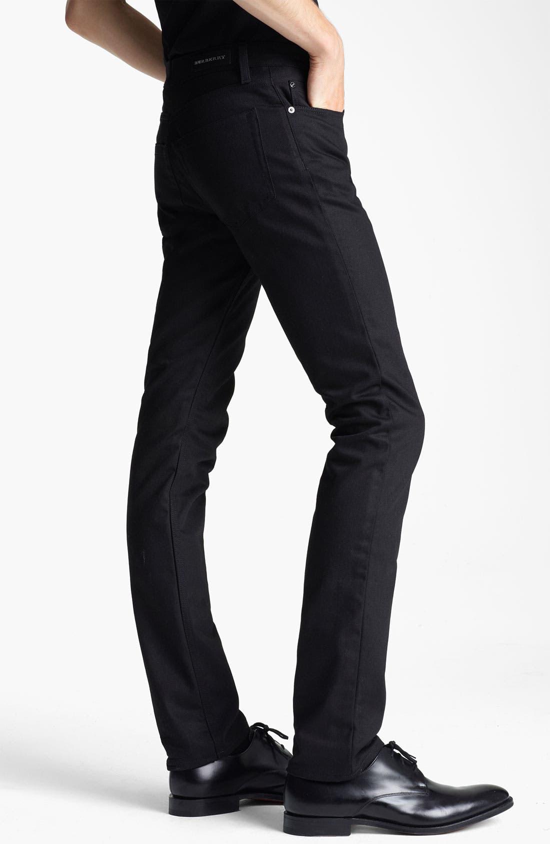 Alternate Image 3  - Burberry London Steadman Fit Straight Leg Jeans (Black Wash)