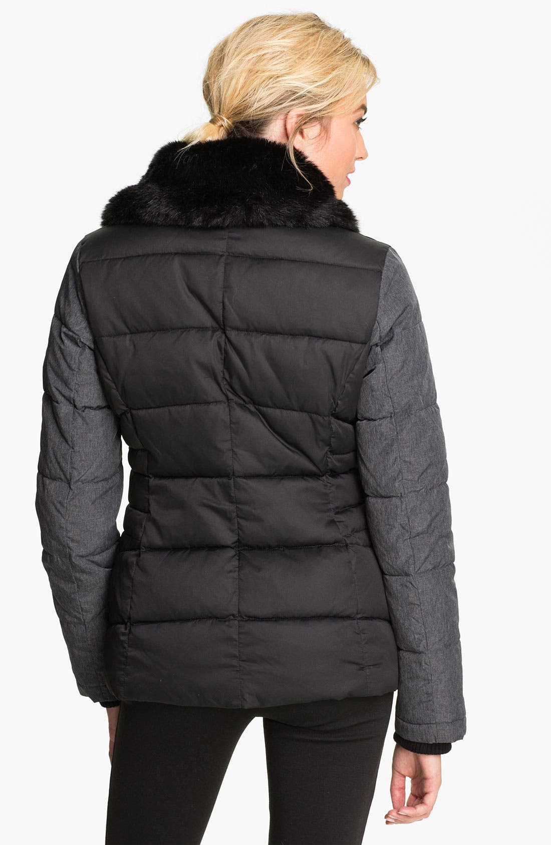 Alternate Image 2  - Buffalo by David Bitton Faux Fur Trim Quilted Coat