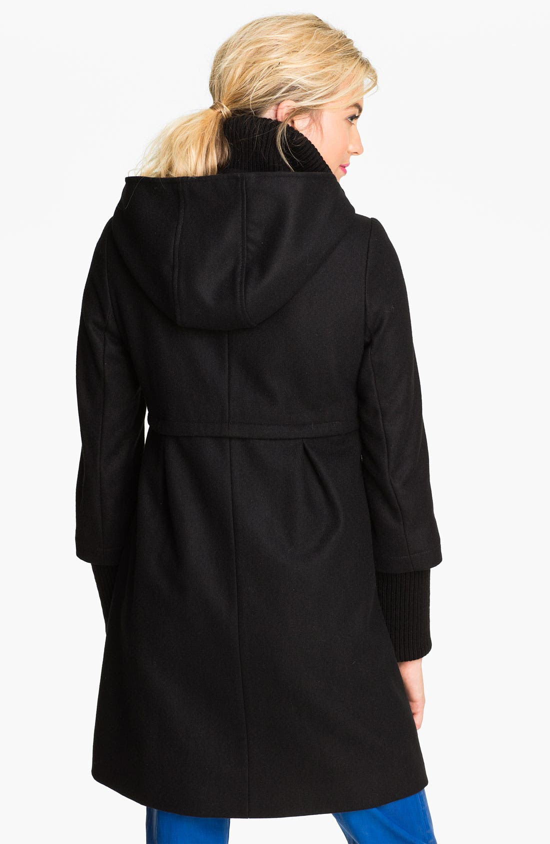 Alternate Image 2  - DKNY 'Bethany' Knit Inset Wool Blend Coat