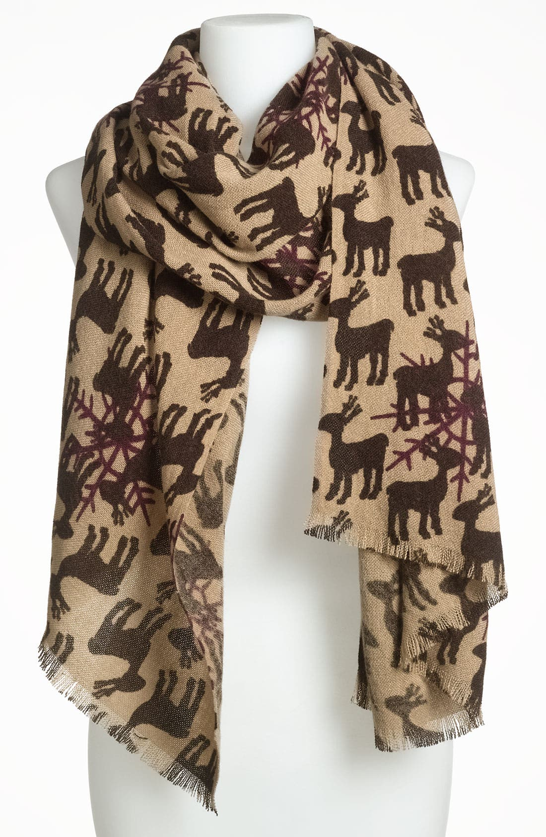 Main Image - Accessory Street 'Moose in the Snow' Scarf