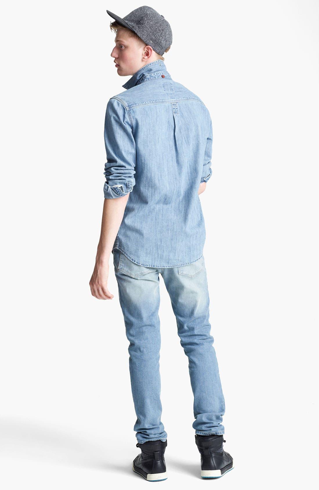 Alternate Image 5  - Topman Embroidered Denim Shirt