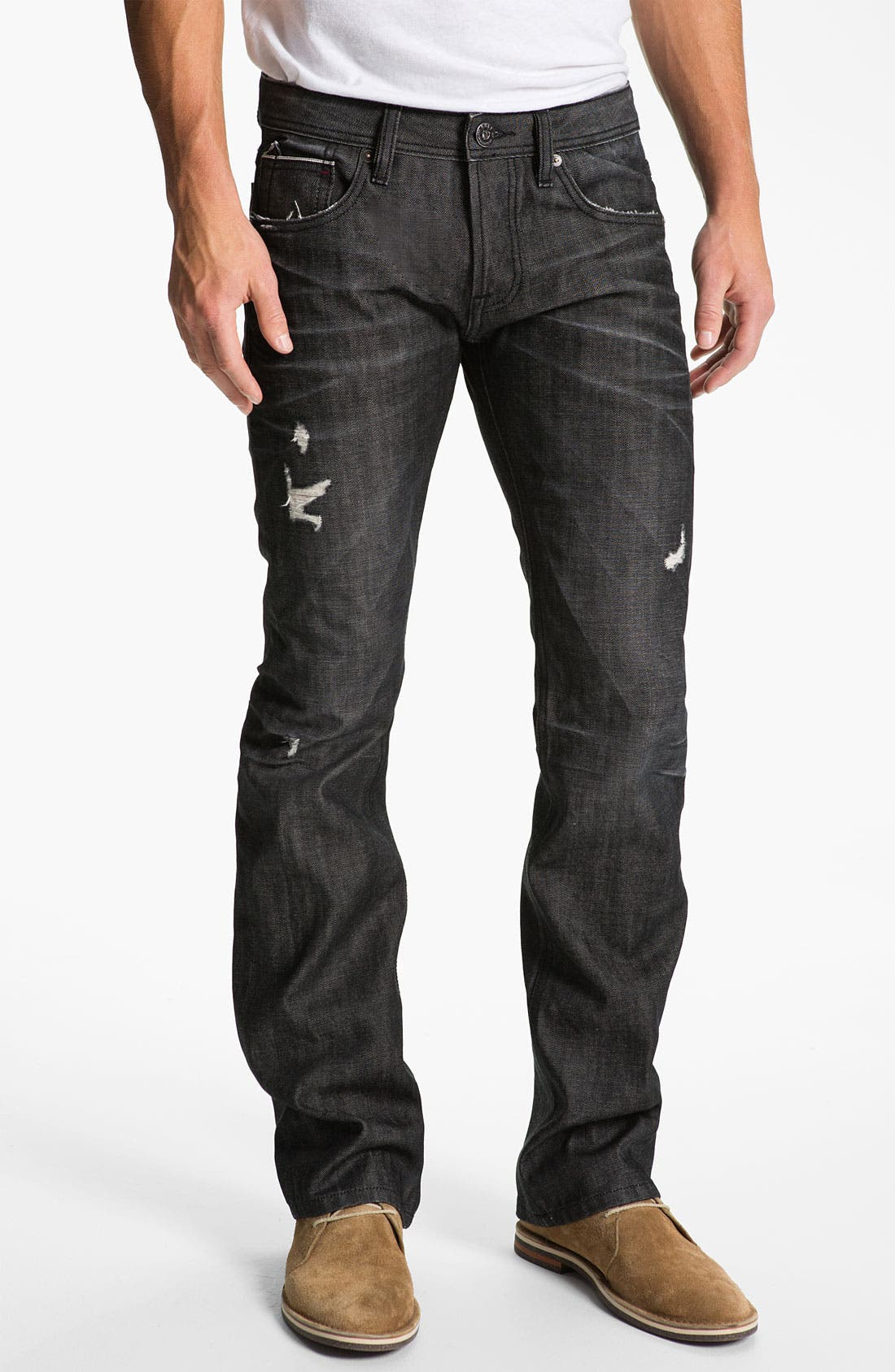 Alternate Image 2  - Cult of Individuality 'Hagen' Relaxed Straight Leg Jeans (Black)
